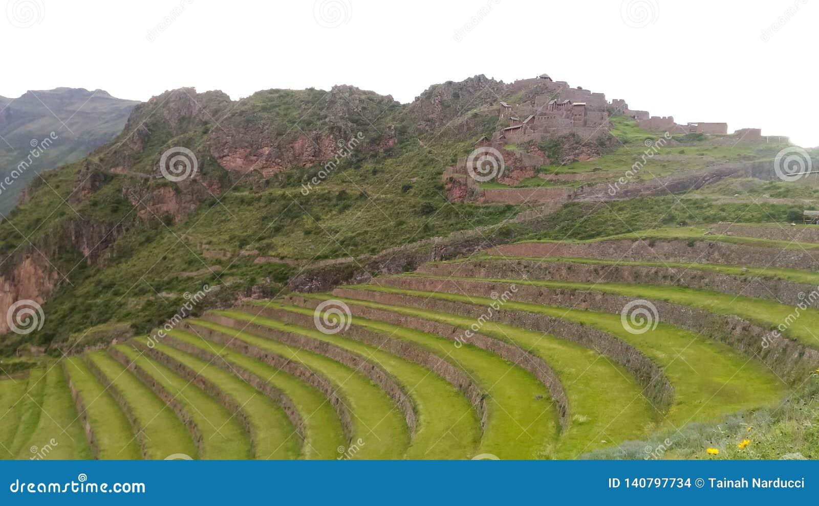 Il sito archeologico più importante in valle sacra, Pisac, Perù, 02/07/2019