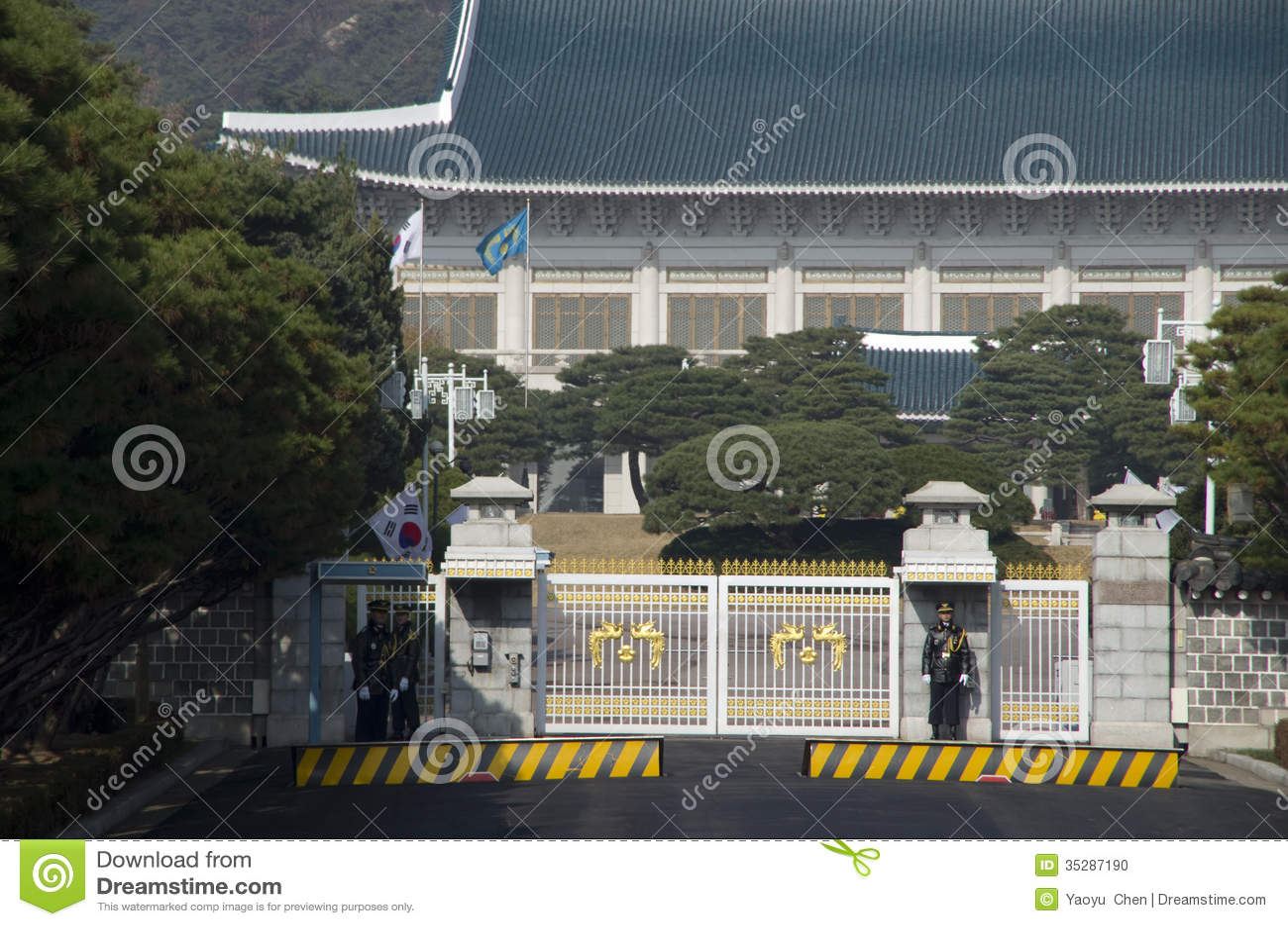 Il sud corea presidenziale della residenza della casa blu for Disegni della casa del merluzzo del capo
