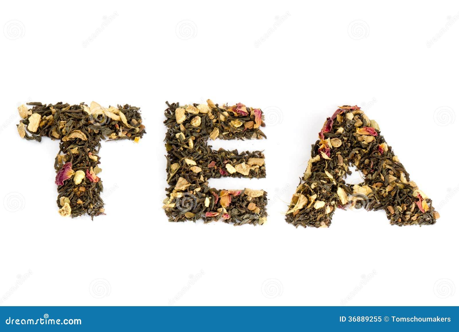 Download Il Tè Di Parola Compitato Con Tè Immagine Stock - Immagine di miscela, vaso: 36889255