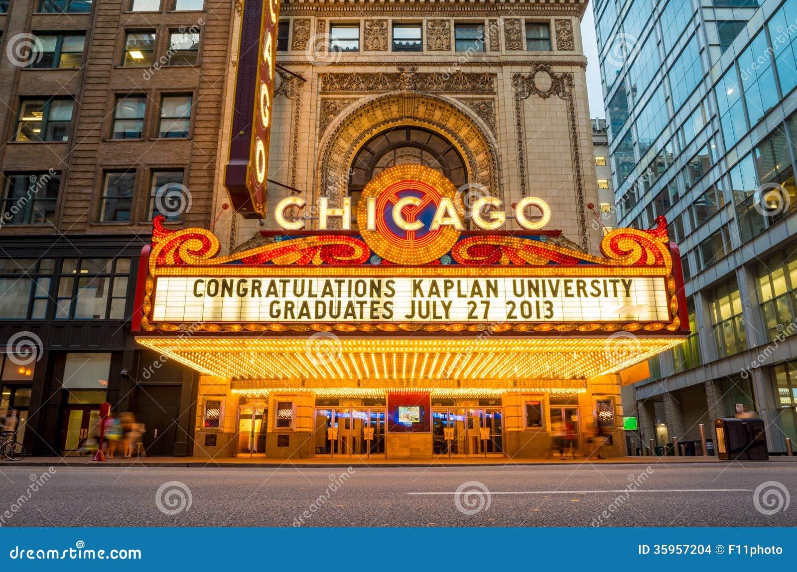 Il teatro famoso di Chicago
