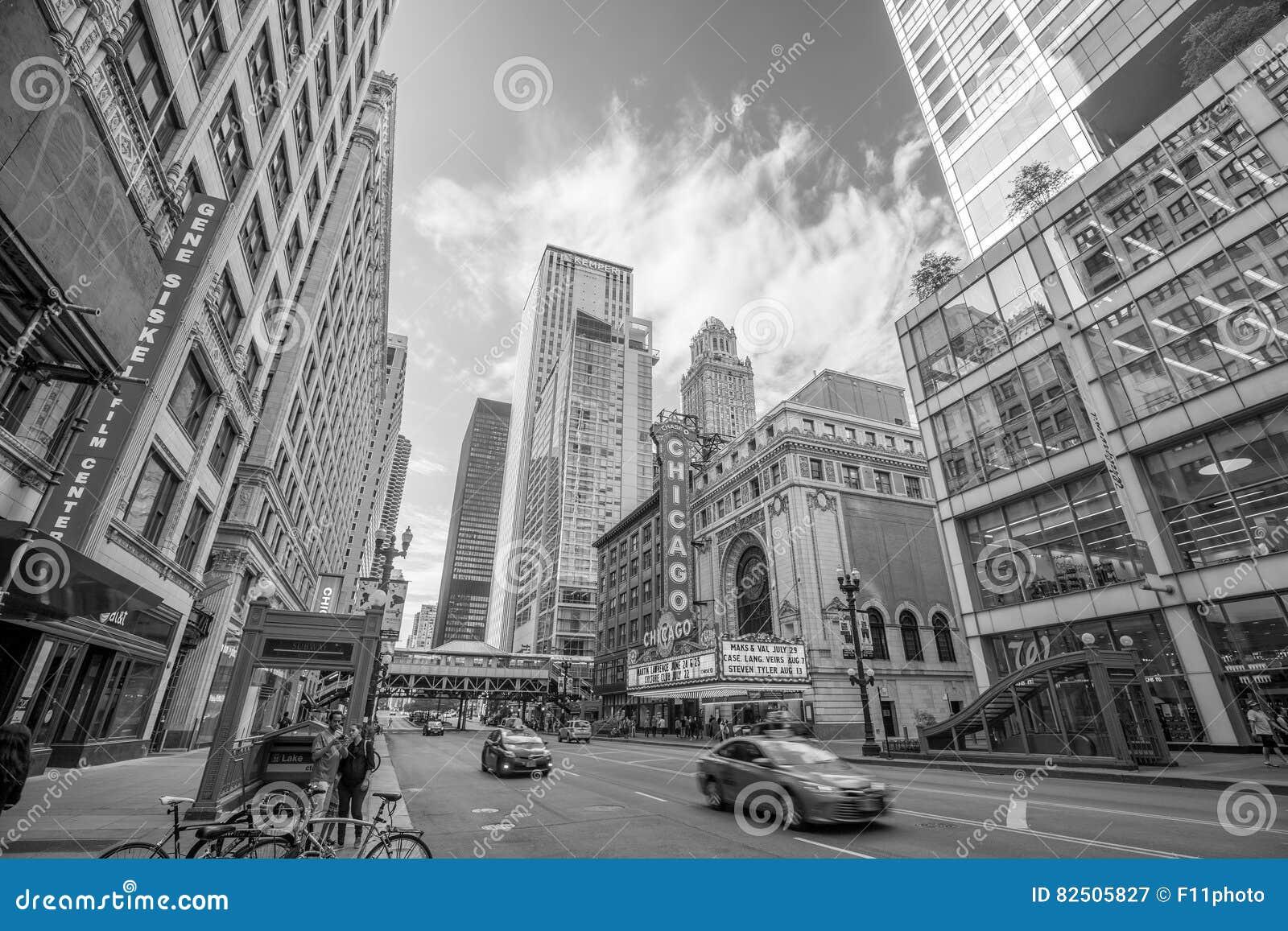 Il teatro famoso di Chicago su State Street