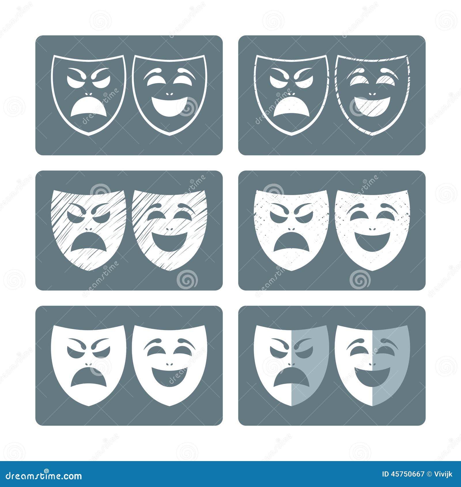 Il teatro maschera le icone