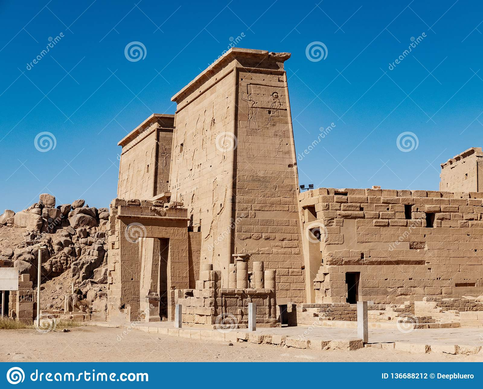 Il tempio antico dell Egitto di Philae