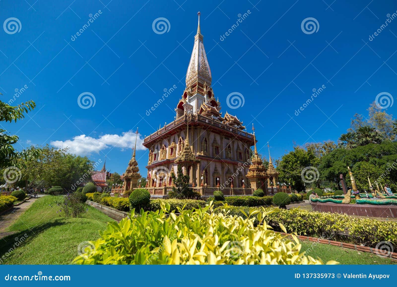 Il tempio di Wat Chalong Buddhist in Chalong, Phuket, Tailandia