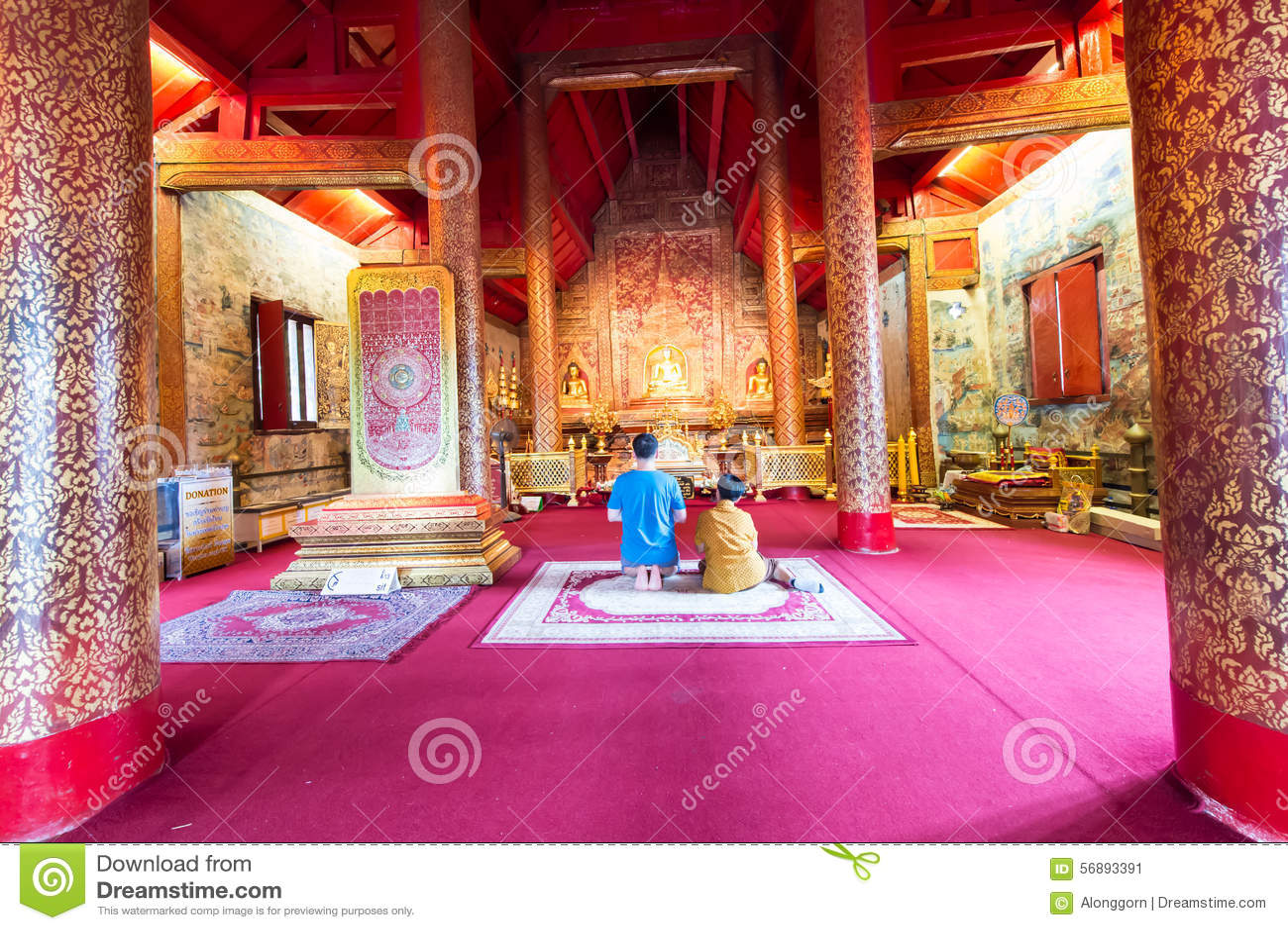 Il tempio molto bello di Wat Phra Singh