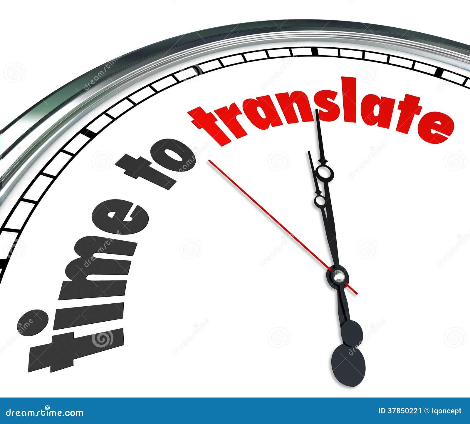 Il tempo di tradurre la lingua interpreta l orologio capisce differente
