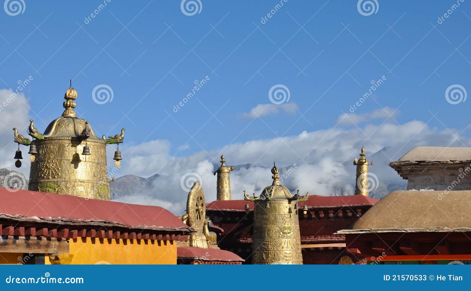 Il tetto del ½ santo del ¿ del ï del ½ del ¿ di Ê¥ï del tempiale di Jokhang