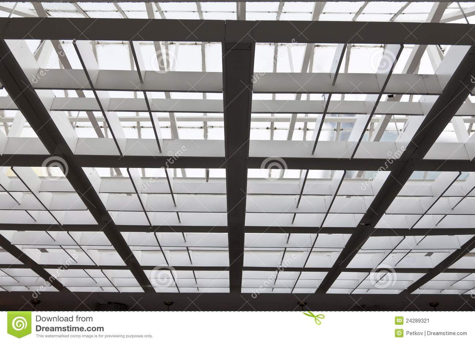Il tetto di vetro e del metallo immagine stock immagine for Tetto in vetro prezzi