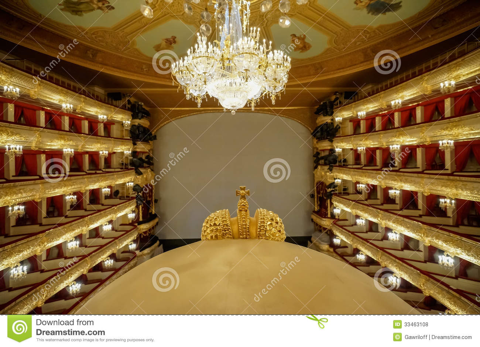 Il théâtre de Bolshoi un théâtre historique de ballet et d opéra à Moscou, Russie