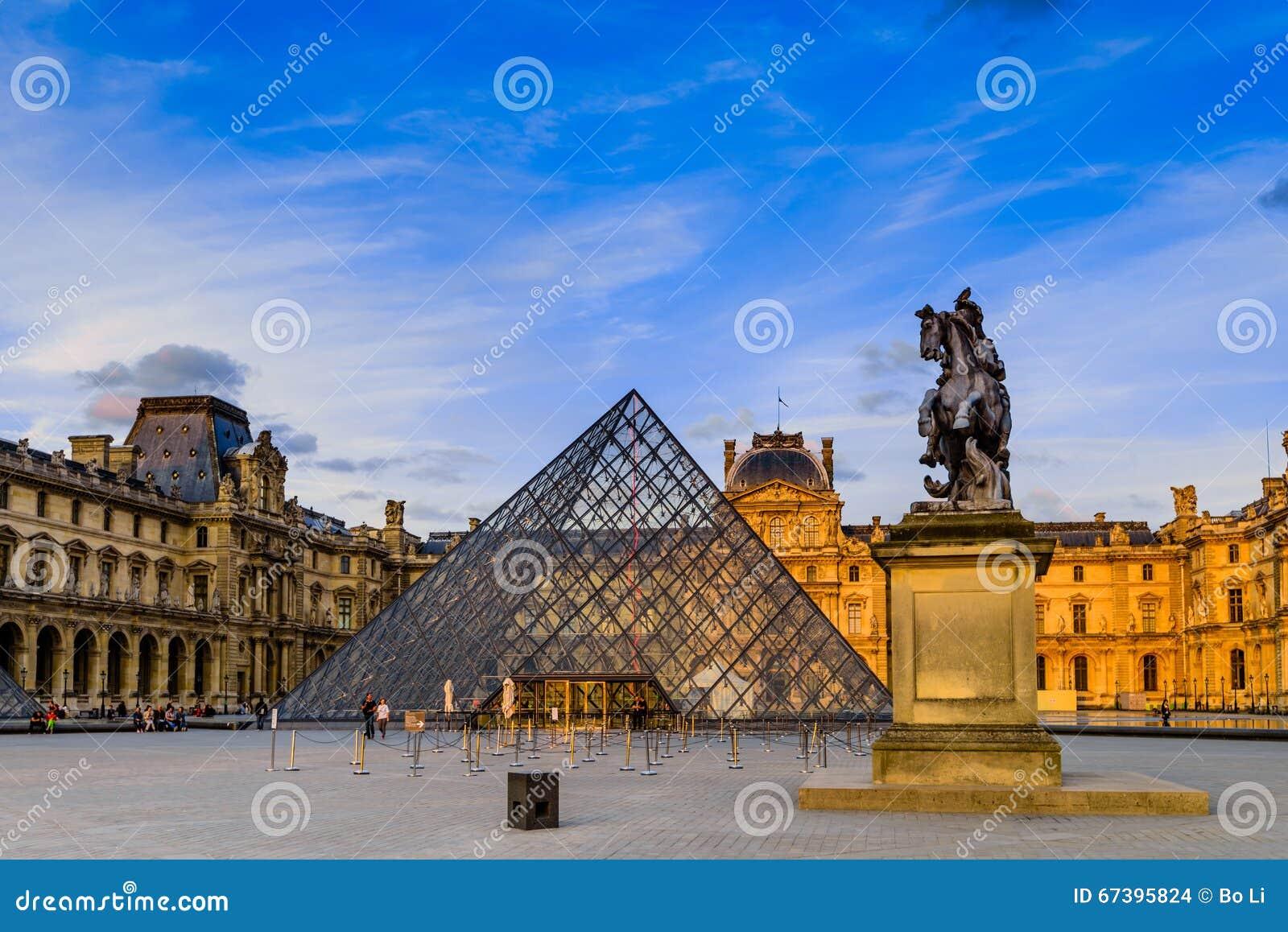 Il tramonto del museo del Louvre