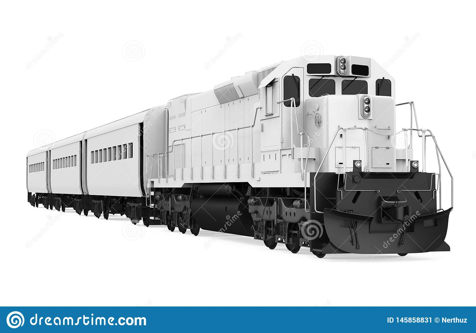 Il treno locomotivo diesel ha isolato