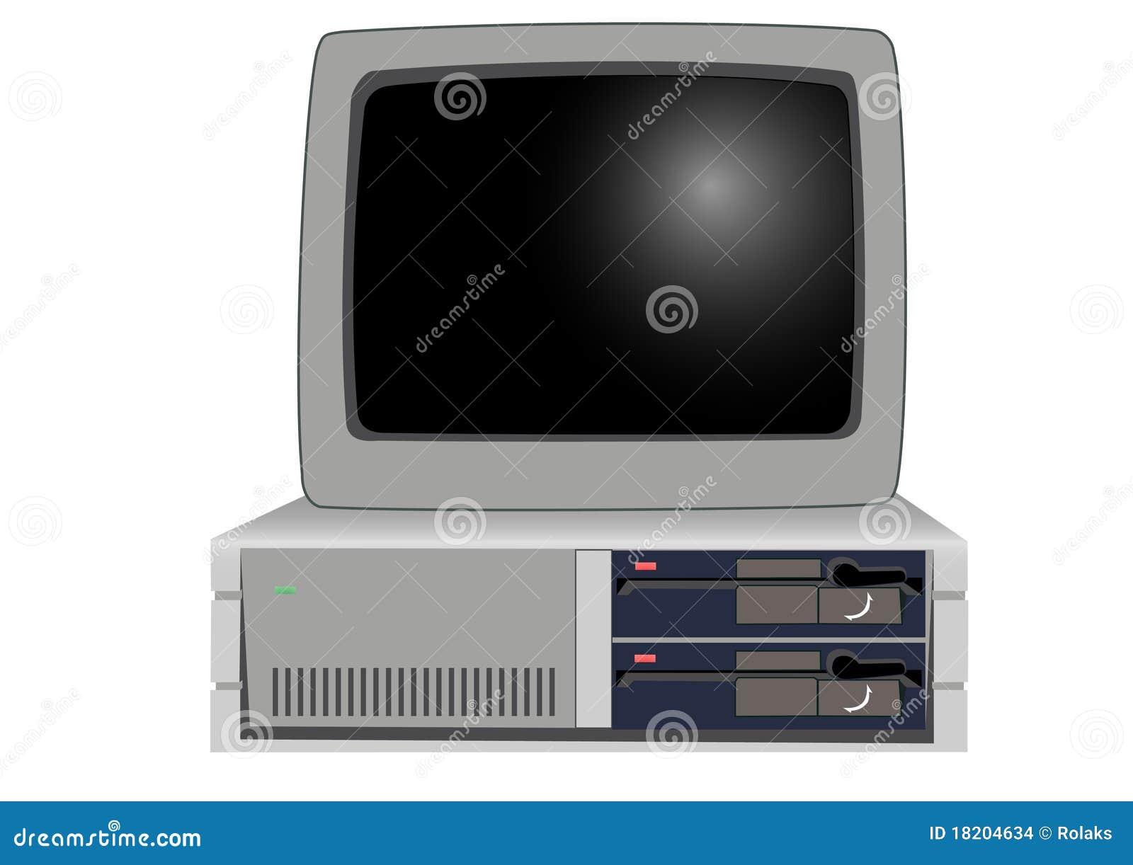 Il vecchio con computer personale