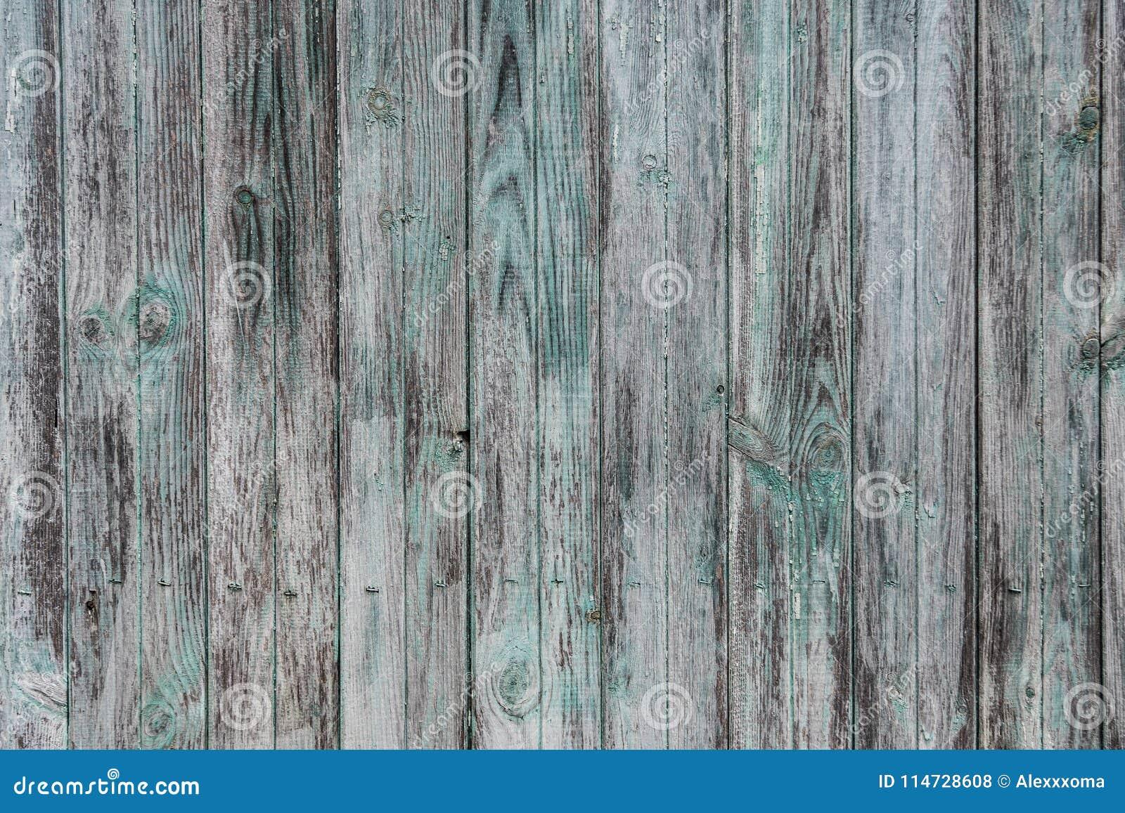 Il vecchio legno rustico ha dipinto fondo bianco e verde e del blu di colori