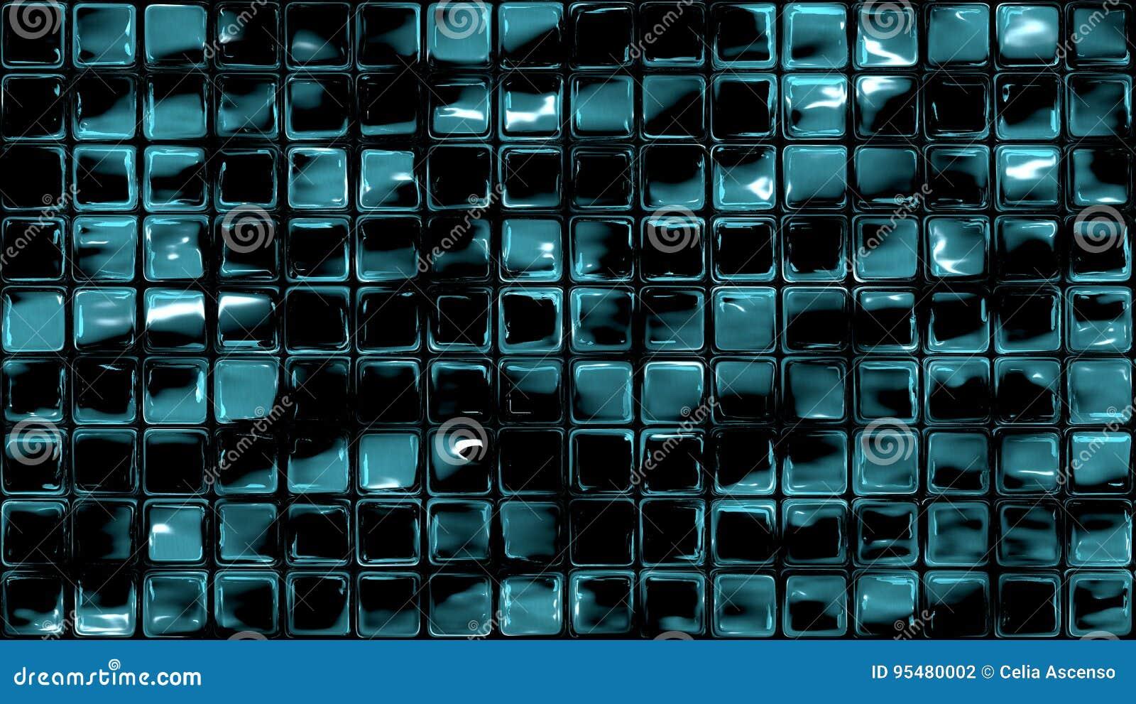 Il vetro blu scuro piastrella lo stagno della parete dell acqua