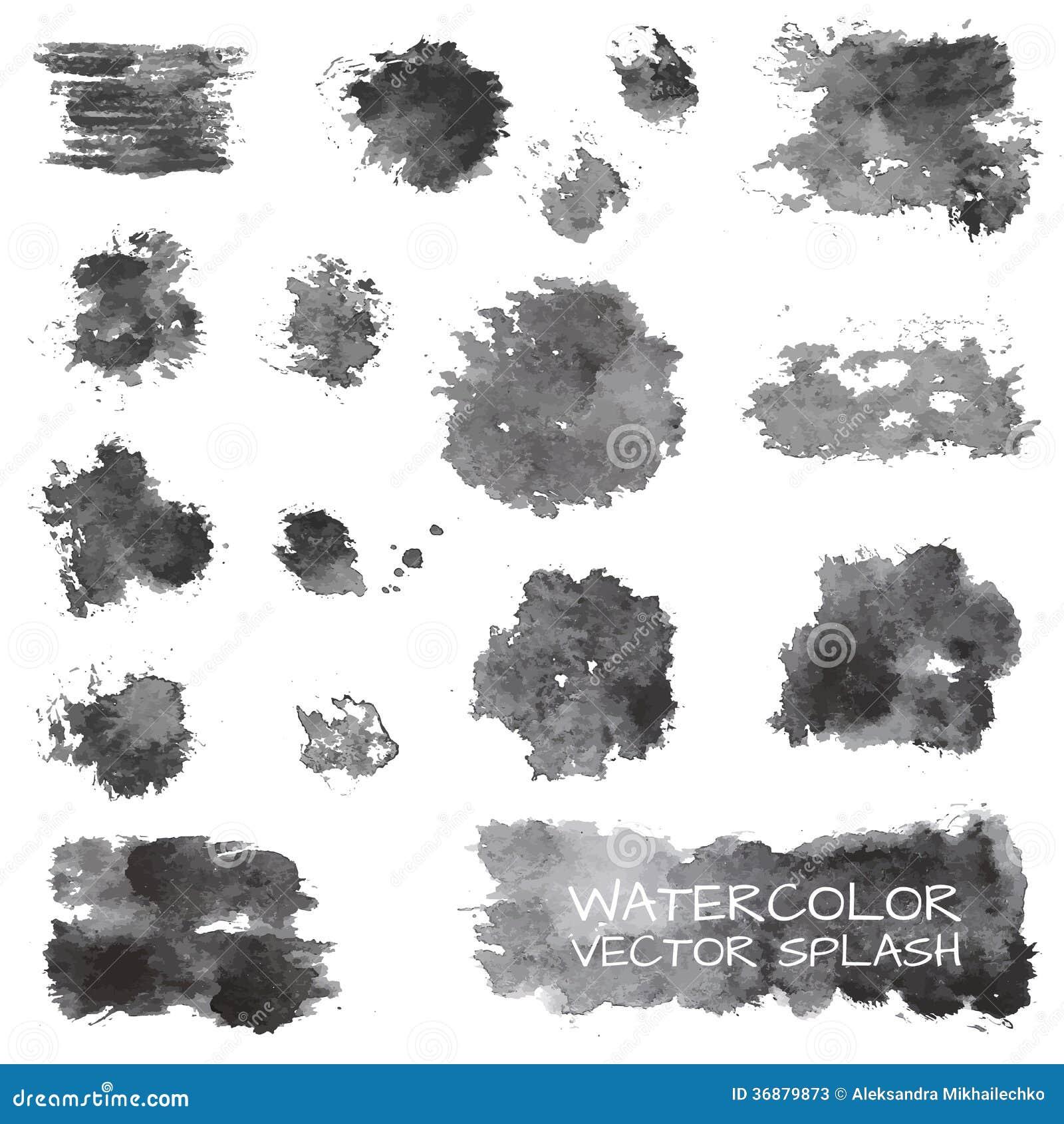 Download Il Vettore Dell'acquerello Spruzza Illustrazione Vettoriale - Illustrazione di grunge, idee: 36879873
