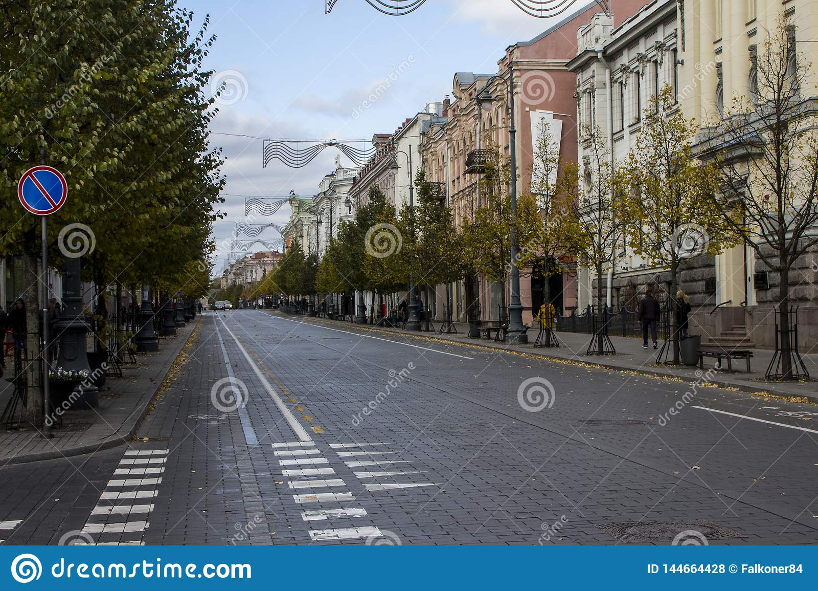 Il viale di Gediminas a Vilnius lithuania