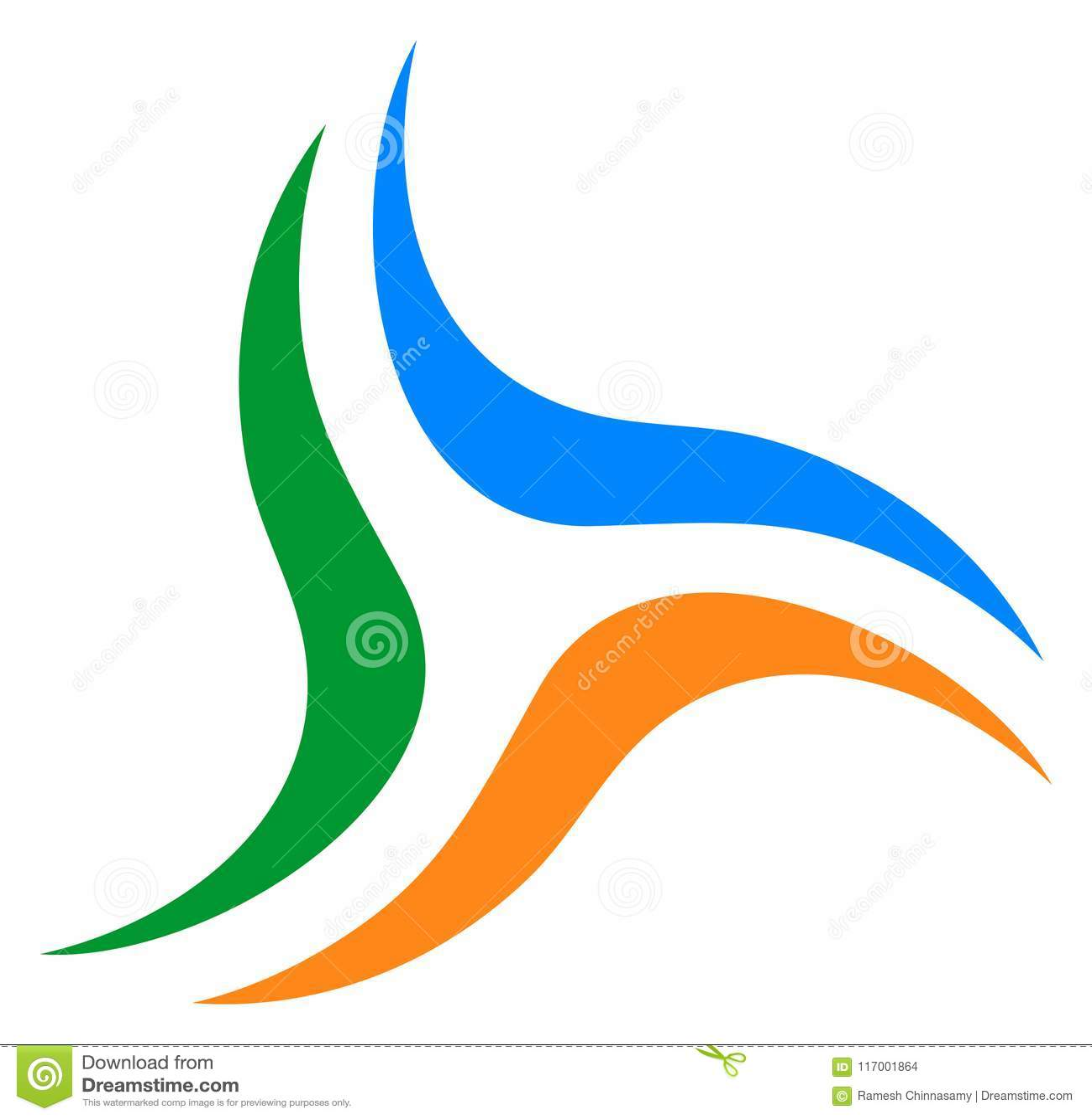 Il vostro emblema di società di affari Logo di turbinio