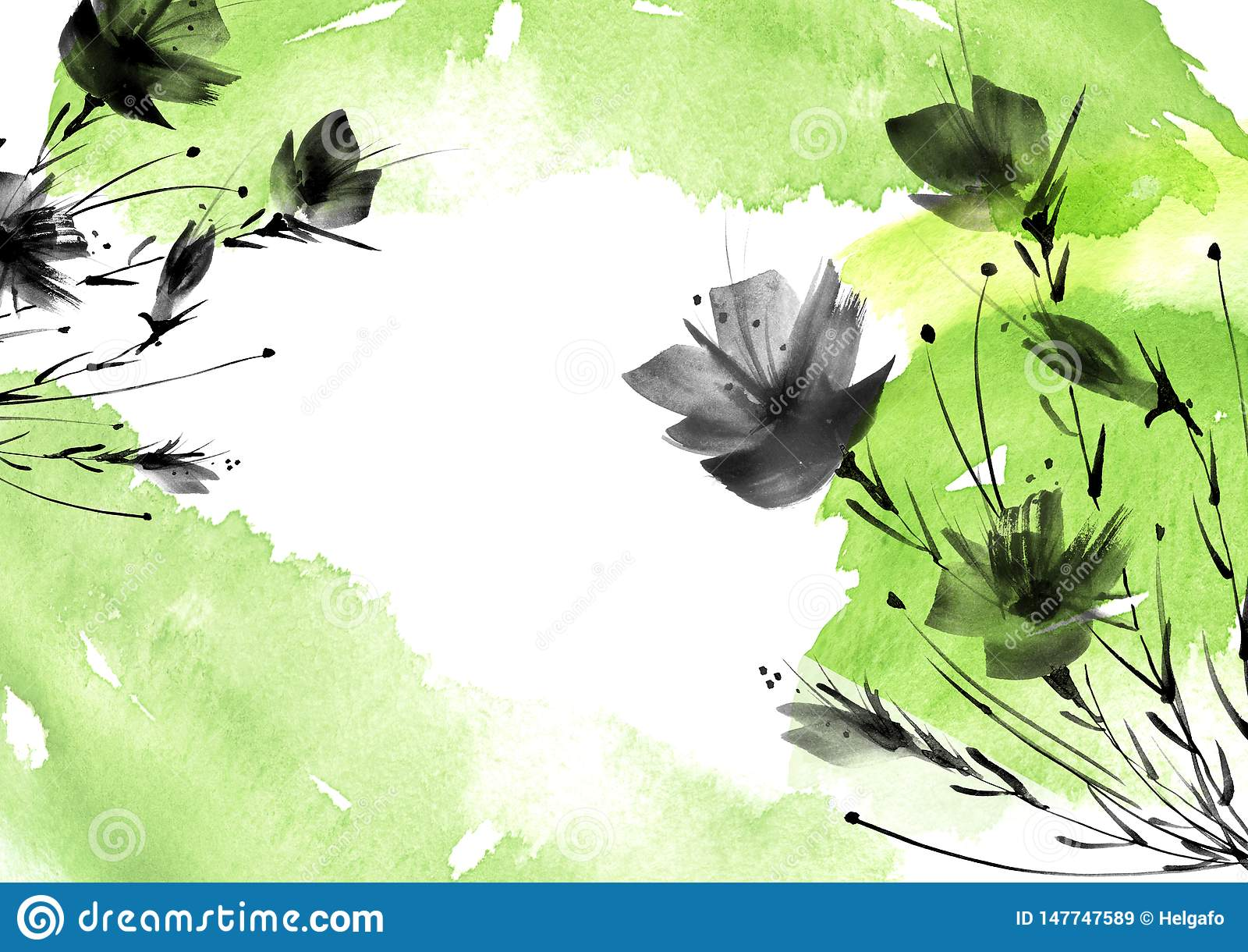 Ild花,领域,庭院-百合,剪影鸦片,玫瑰