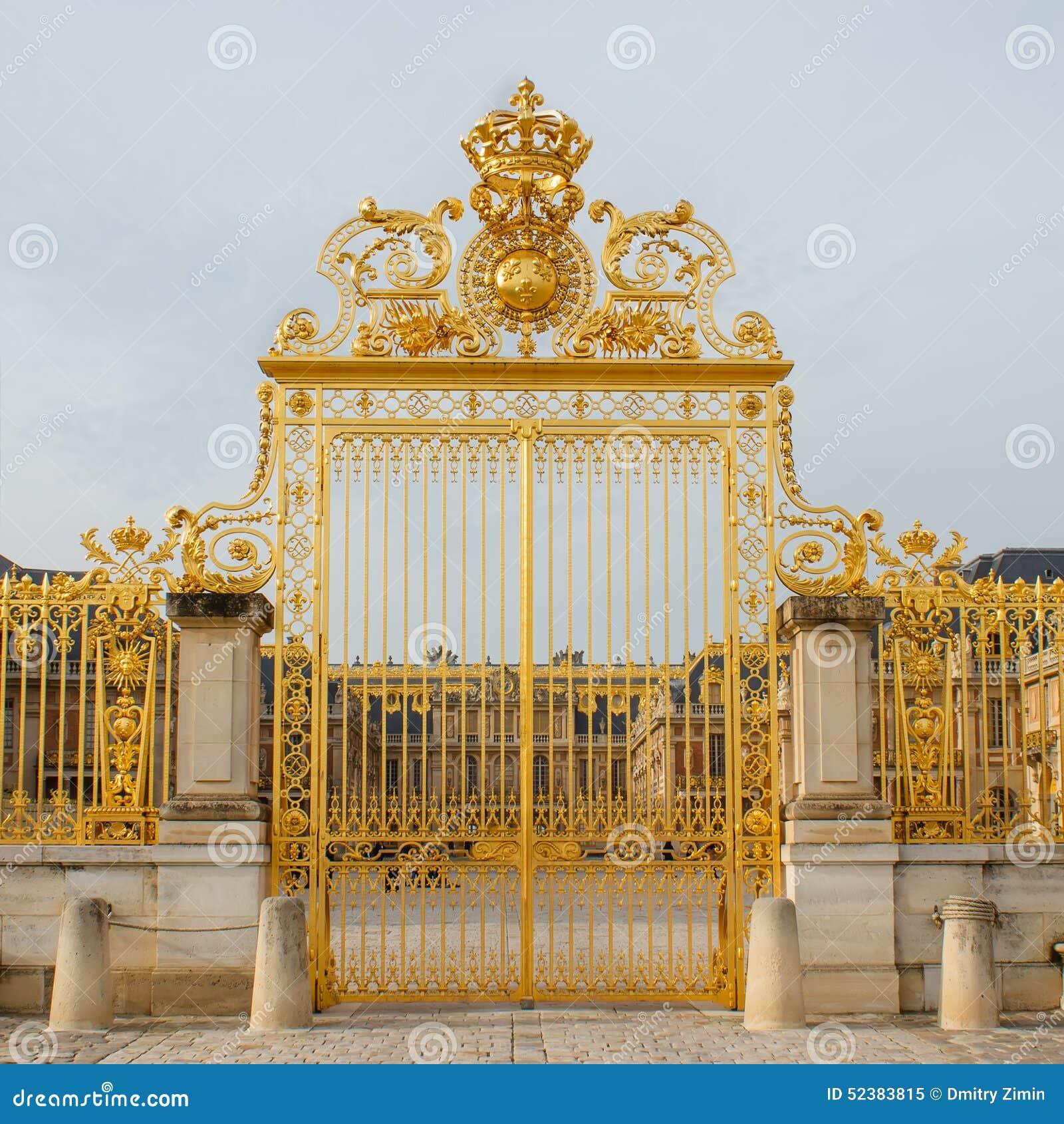 Ile de France, porte d or de palais de Versailles