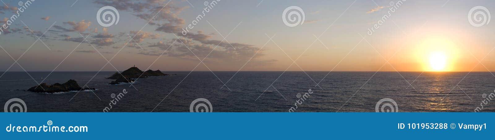 Iles Sanguinaires, Gulf of Ajaccio, Corsica, Corse, France, Europe, island