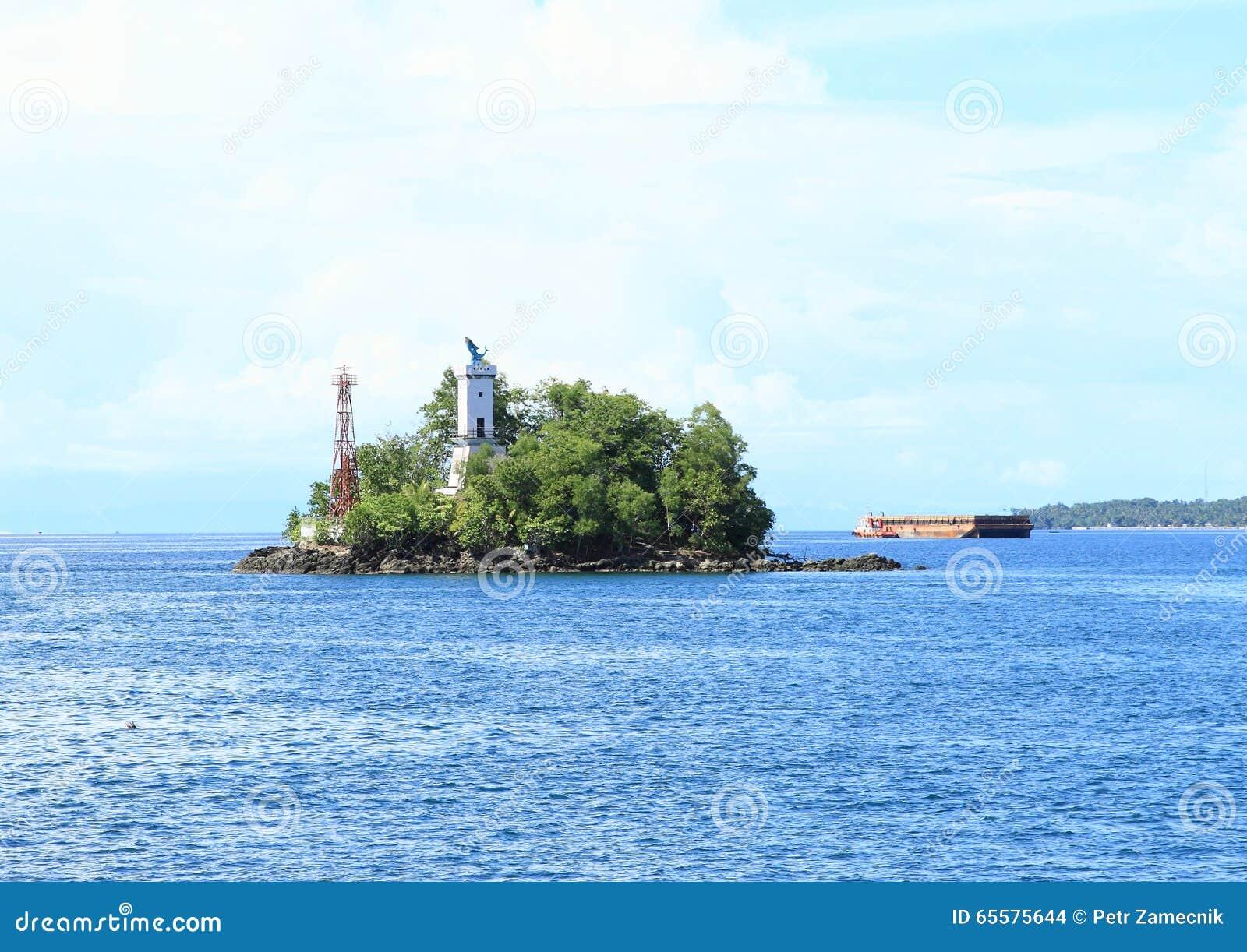 Ilha com o farol
