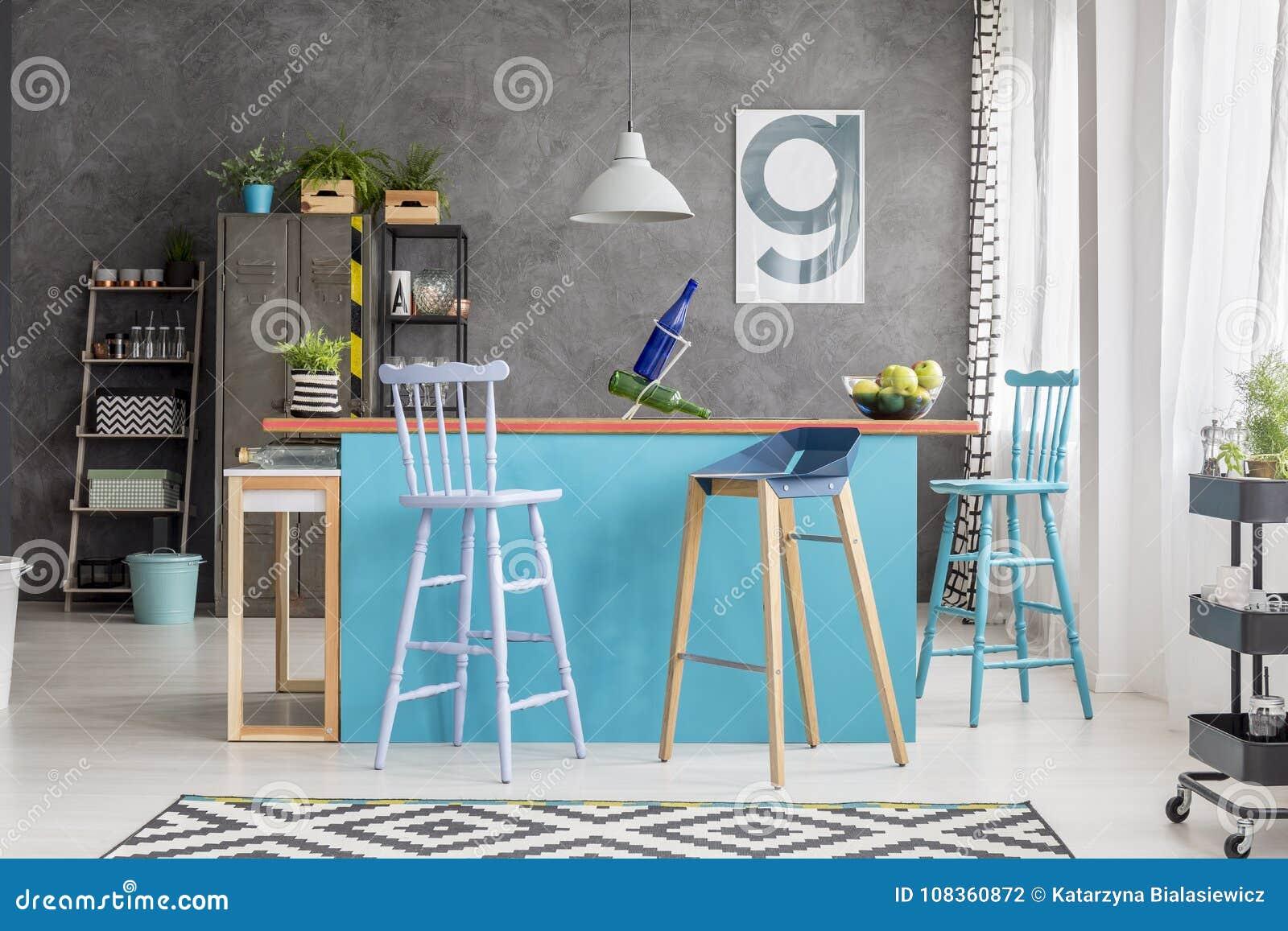 Ilha De Cozinha Moderna No Apartamento Foto De Stock Imagem De