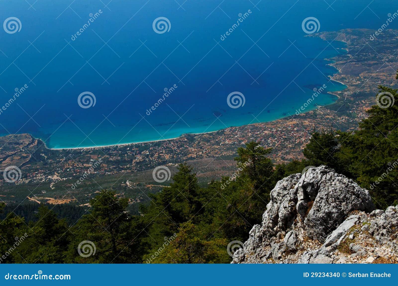 Download Ilha de Kefalonia foto de stock. Imagem de grego, scenic - 29234340