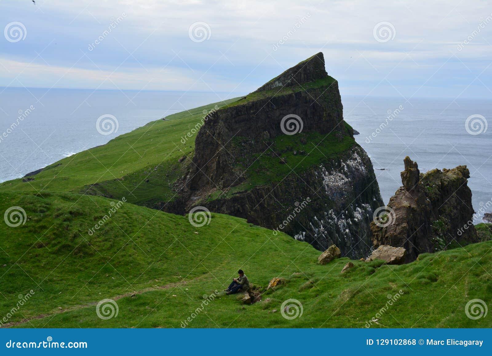 Ilha de Mykines em Ilhas Faroé