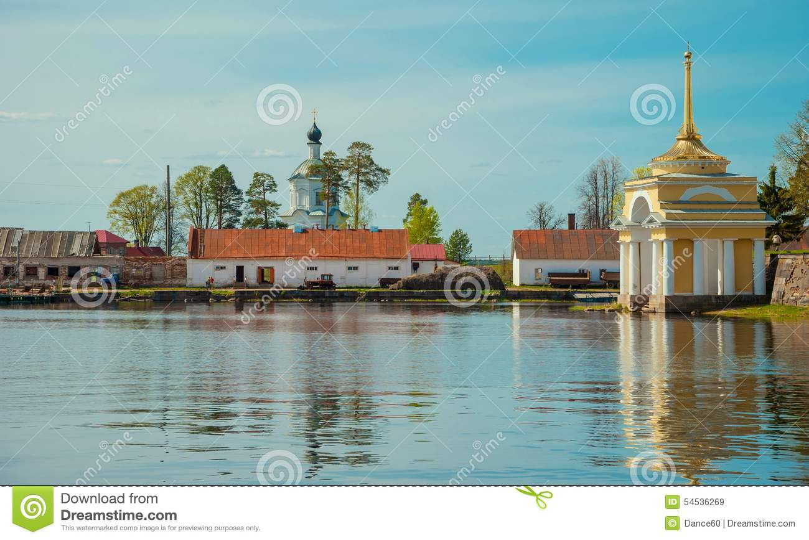 Ilha de Stolobny do monastério