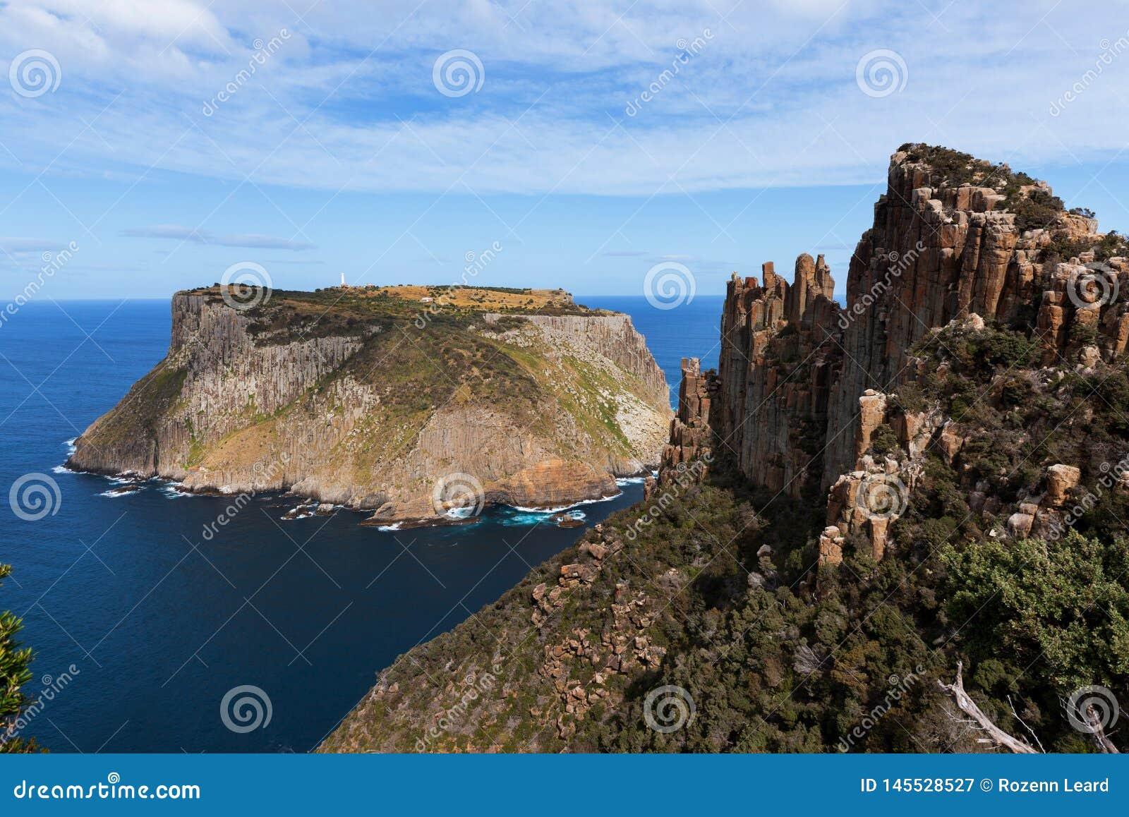 Ilha de Tasman e a l?mina, Tasm?nia, Austr?lia