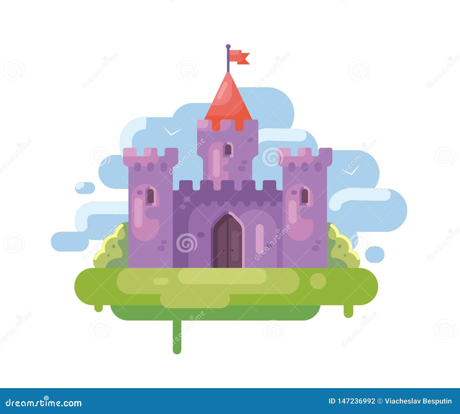 Ilha roxa do castelo