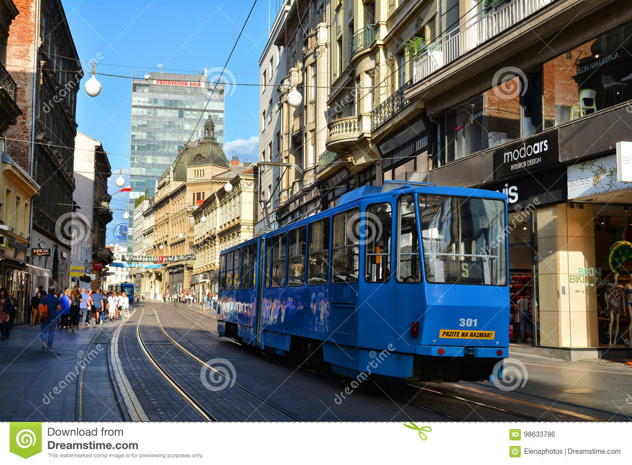 Ilica Street Or Main Shopping Area Zagreb Editorial Photo Image Of Electric Cityscape 98633786