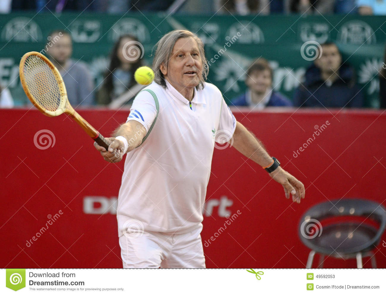Ilie Nastase editorial stock photo Image of positive