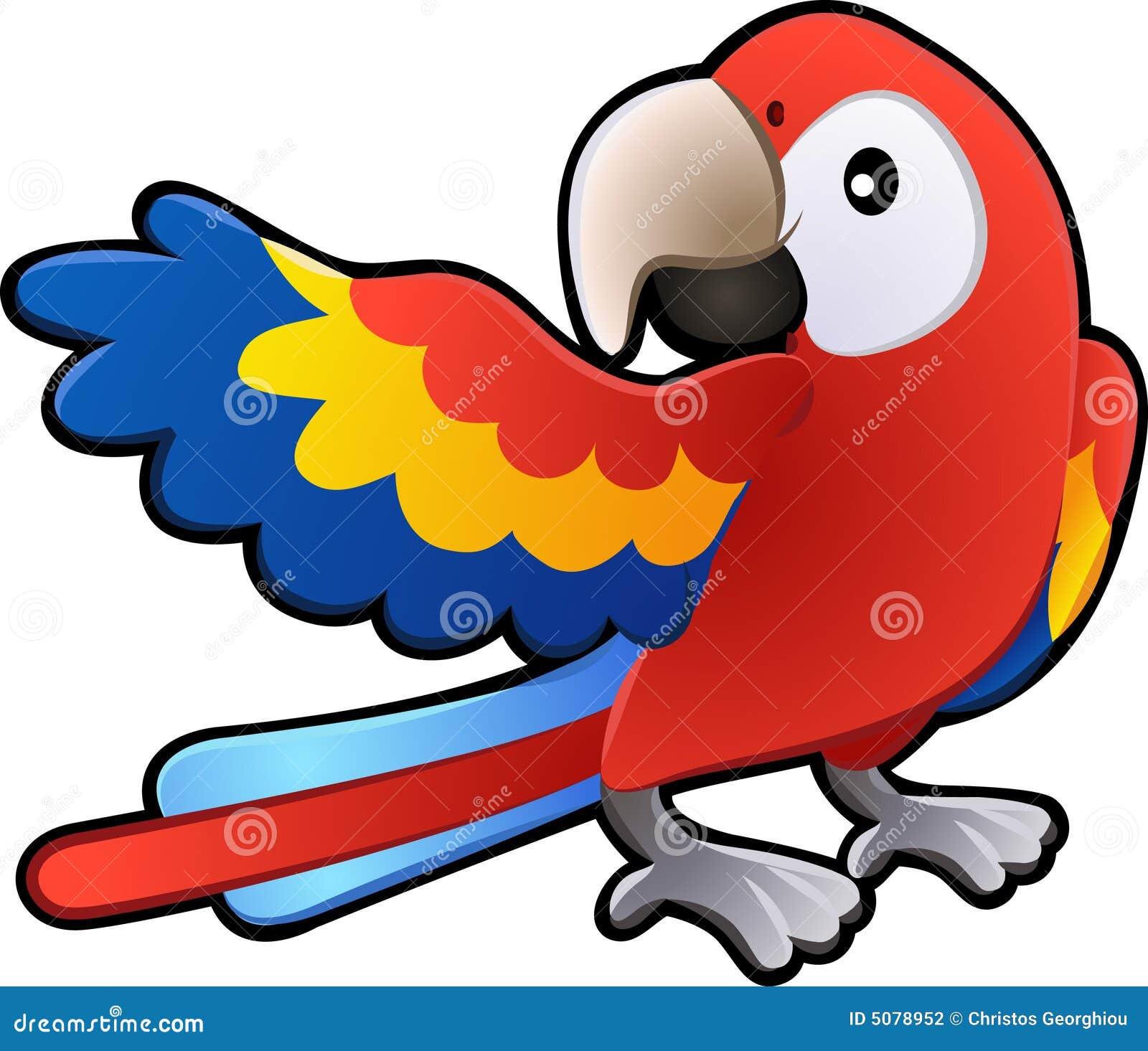 Ill amichevole sveglio del pappagallo del Macaw