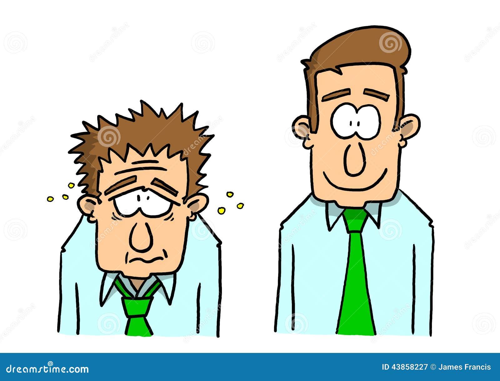 Ill Man And Healthy Man Stock Illustration Illustration Of Hygiene
