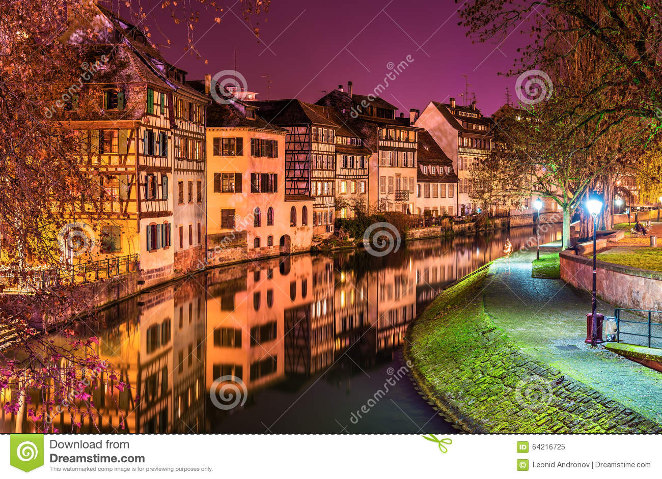 the ill river in petite france area strasbourg stock photo image 64216725. Black Bedroom Furniture Sets. Home Design Ideas