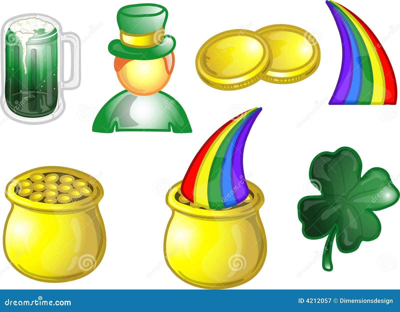 Ill stabilito dell 39 icona di giorno di st patrick - St patricks giorno fogli di colore giorno ...