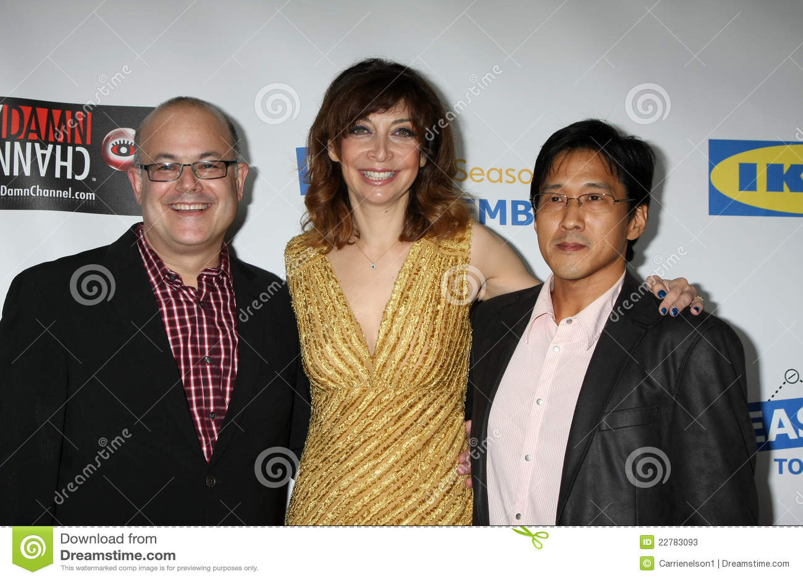 Illeana Douglas, Michael Kang, Rob Burnett