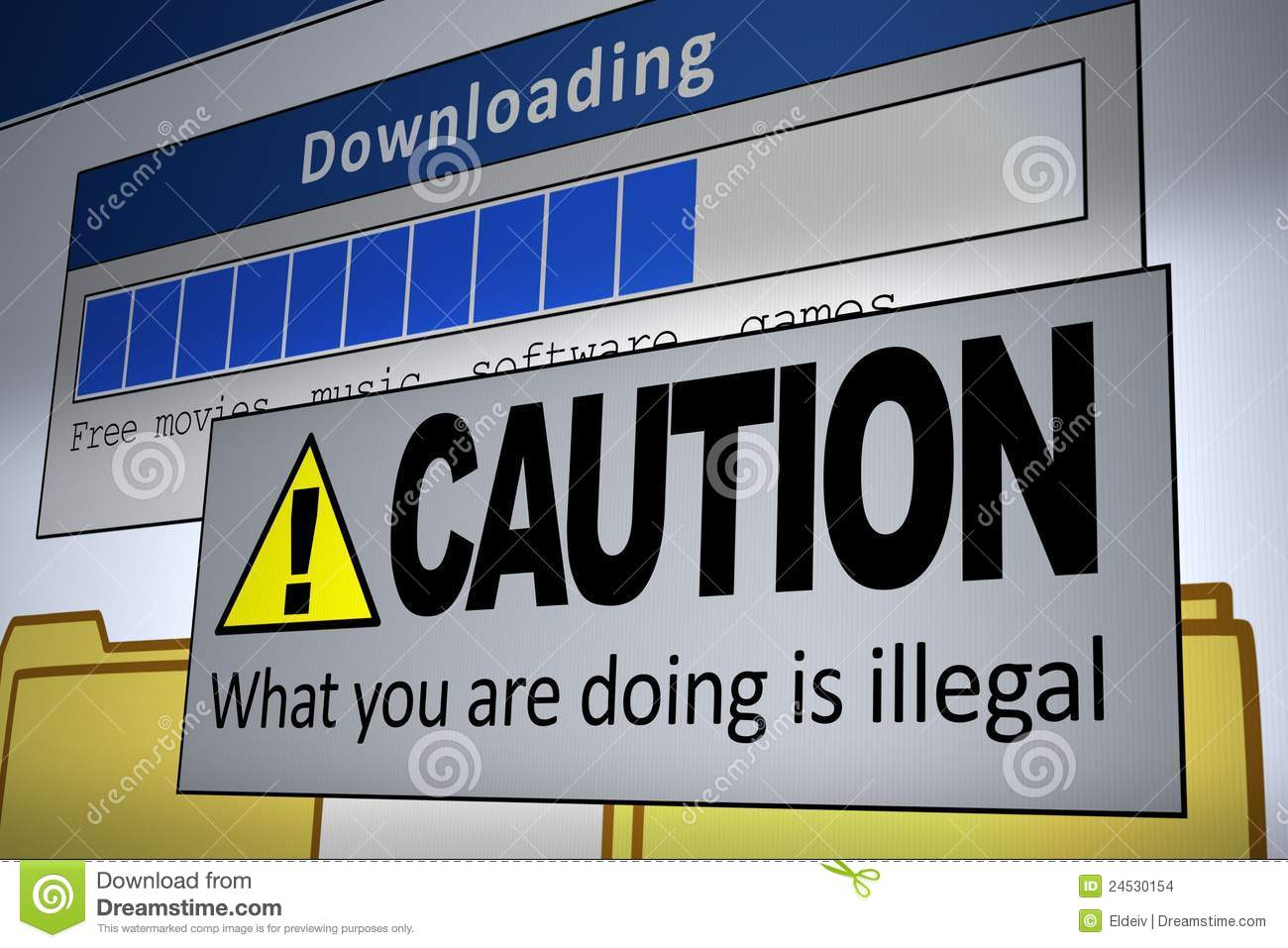 music downloading illegal not Downloading music for free should be illegal because artists lose a lot of money when the music that they create is not paid for when a song or album is downloaded, then the person that downloaded it is not likely to ever buy the music.