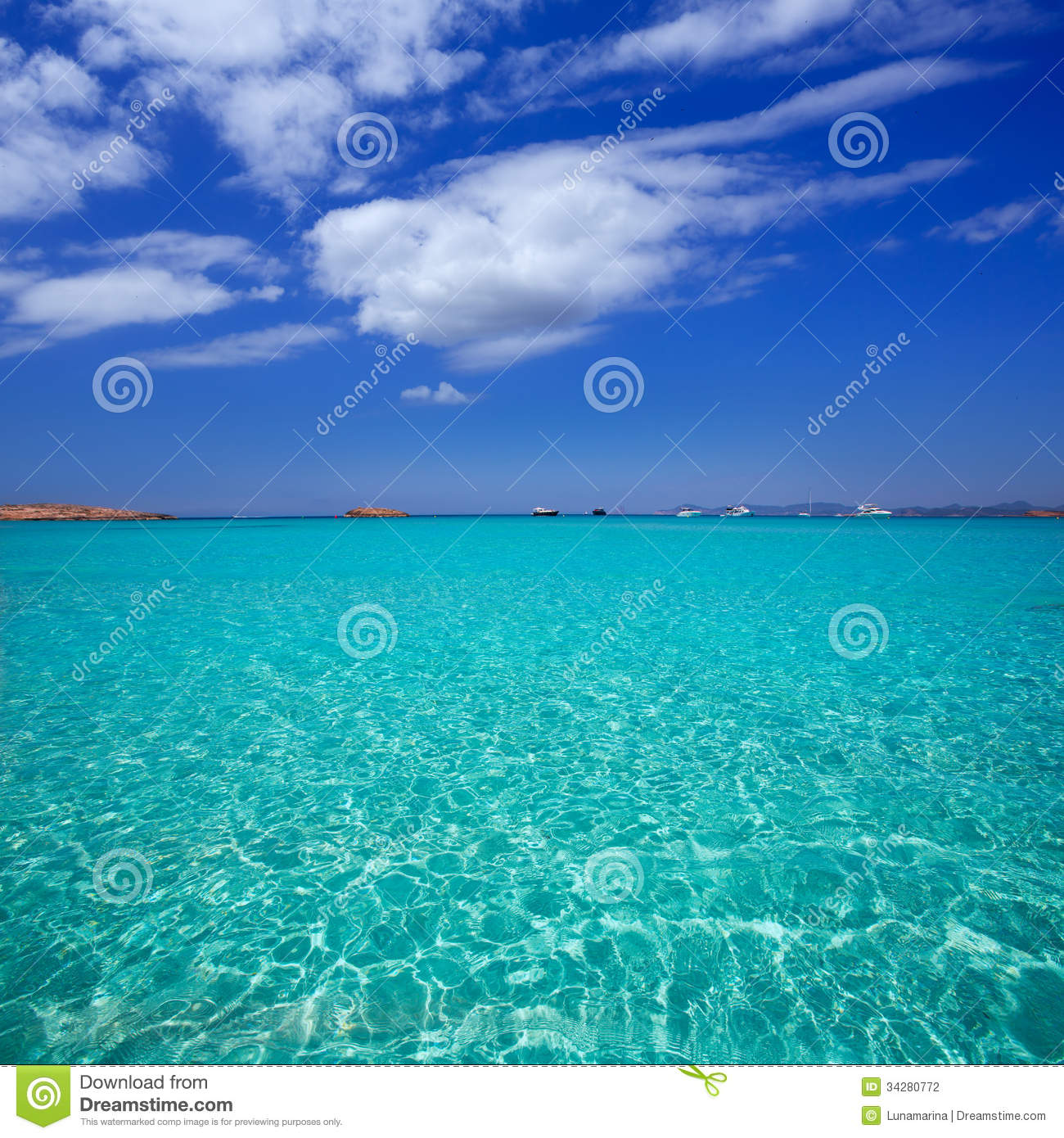 Illetes Illetas Beach In Formentera Balearic Islands Stock Photography - Imag...