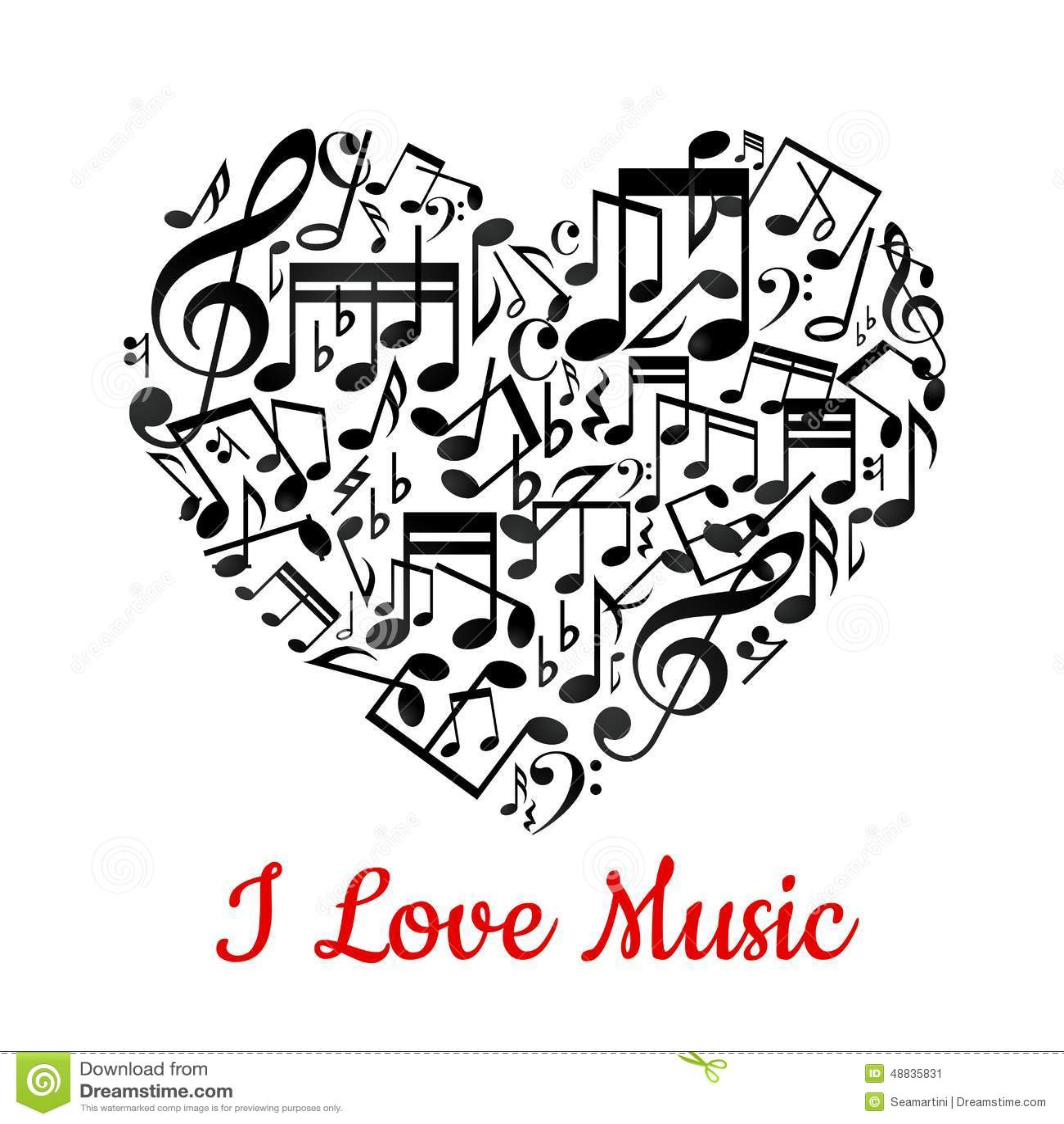 Illstration καρδιών μουσικό το χαρτοφυλάκιό μου στη διανυσματική υποδοχή