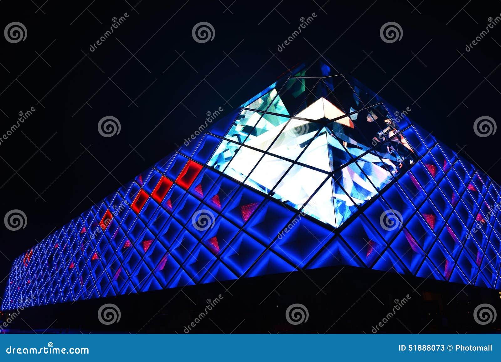 Illuminant led lights exterior wall of modern commercial building illuminant led lights exterior wall of modern commercial building stock image image of center commercial 51888073 mozeypictures Image collections