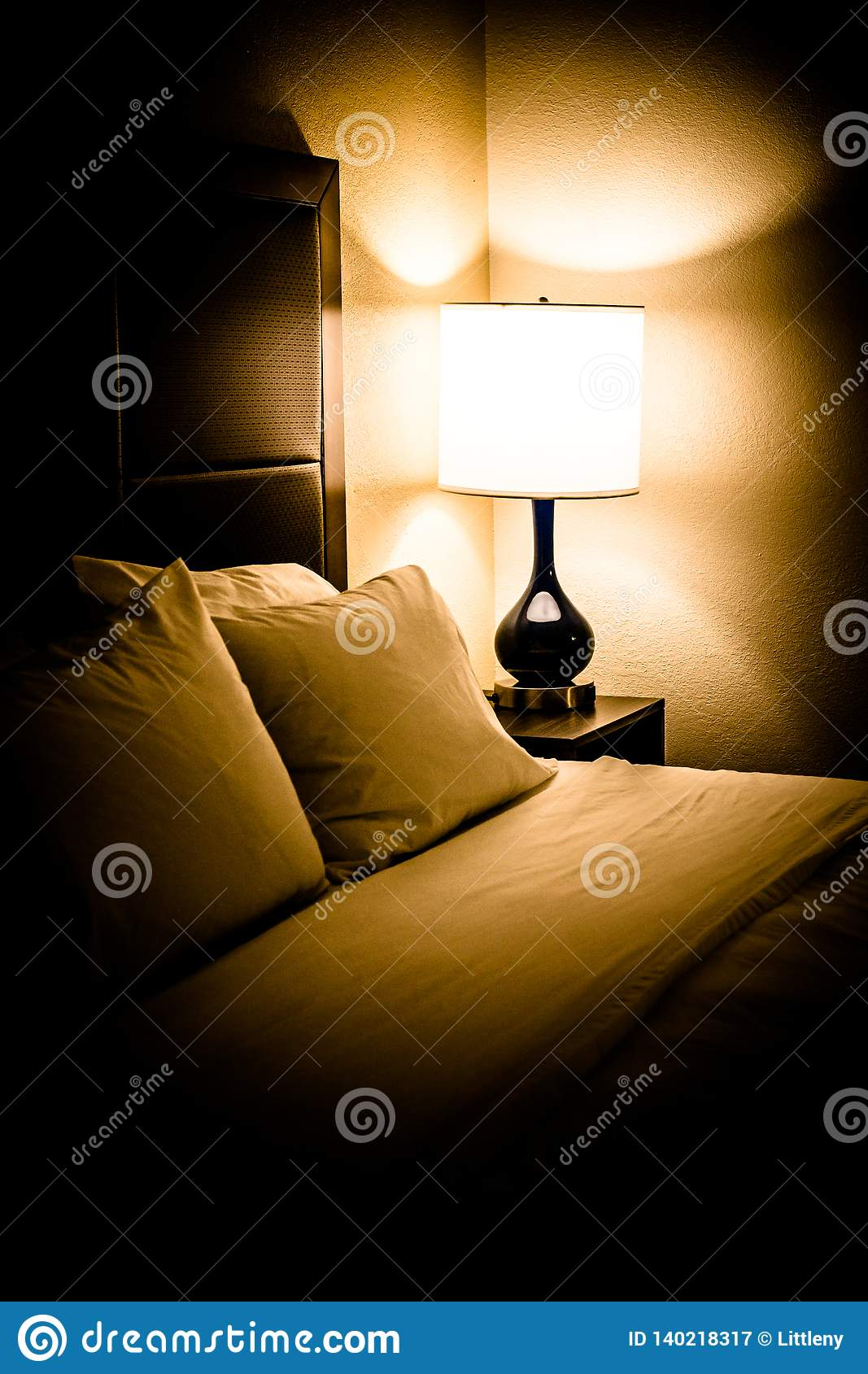 Bedroom Bed Light Night Lamp Stock Image Image Of Lamp Decorated 140218317