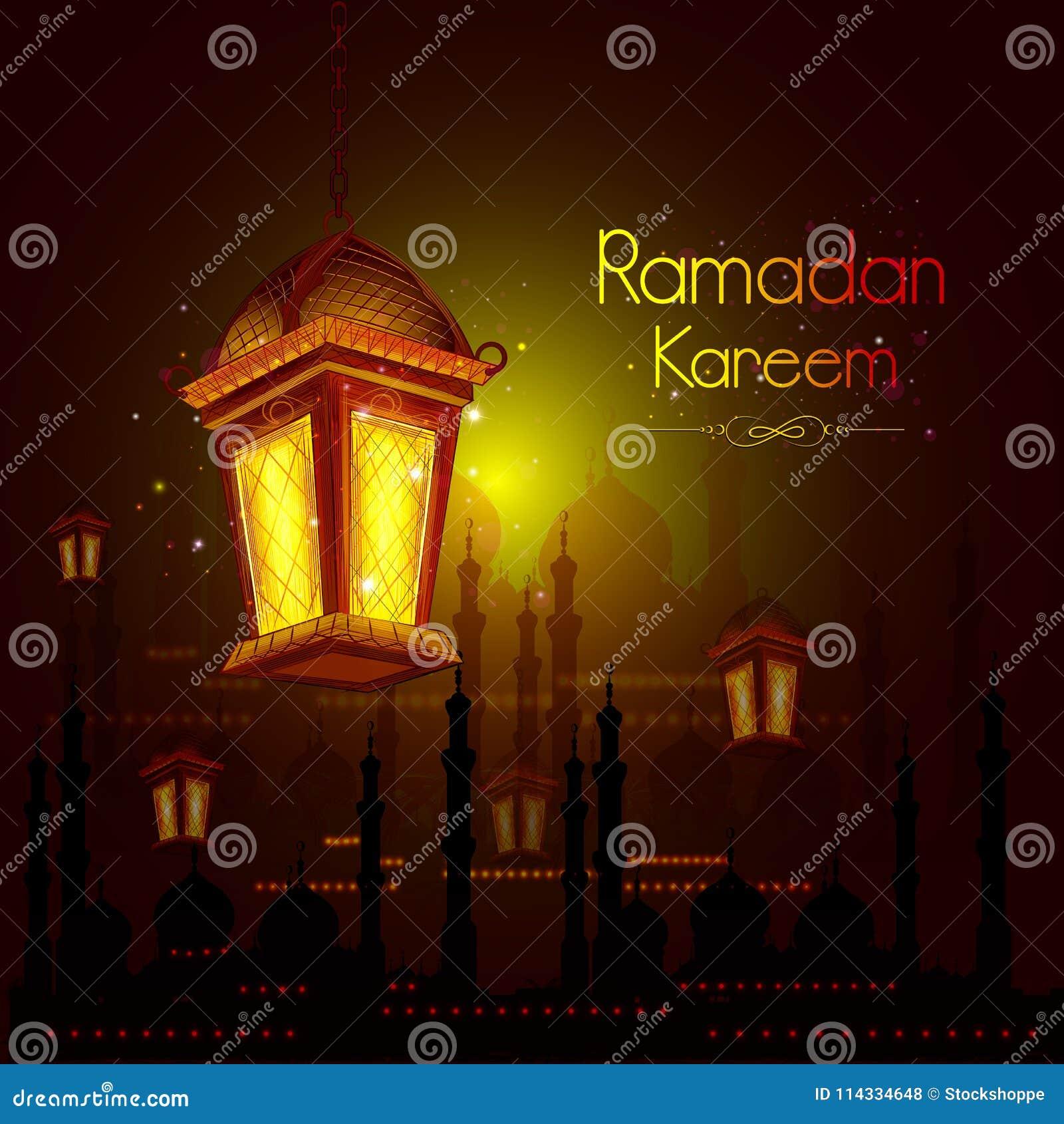 Illuminated lamp for ramadan kareem greetings for ramadan background illuminated lamp for ramadan kareem greetings for ramadan background with islamic mosque m4hsunfo