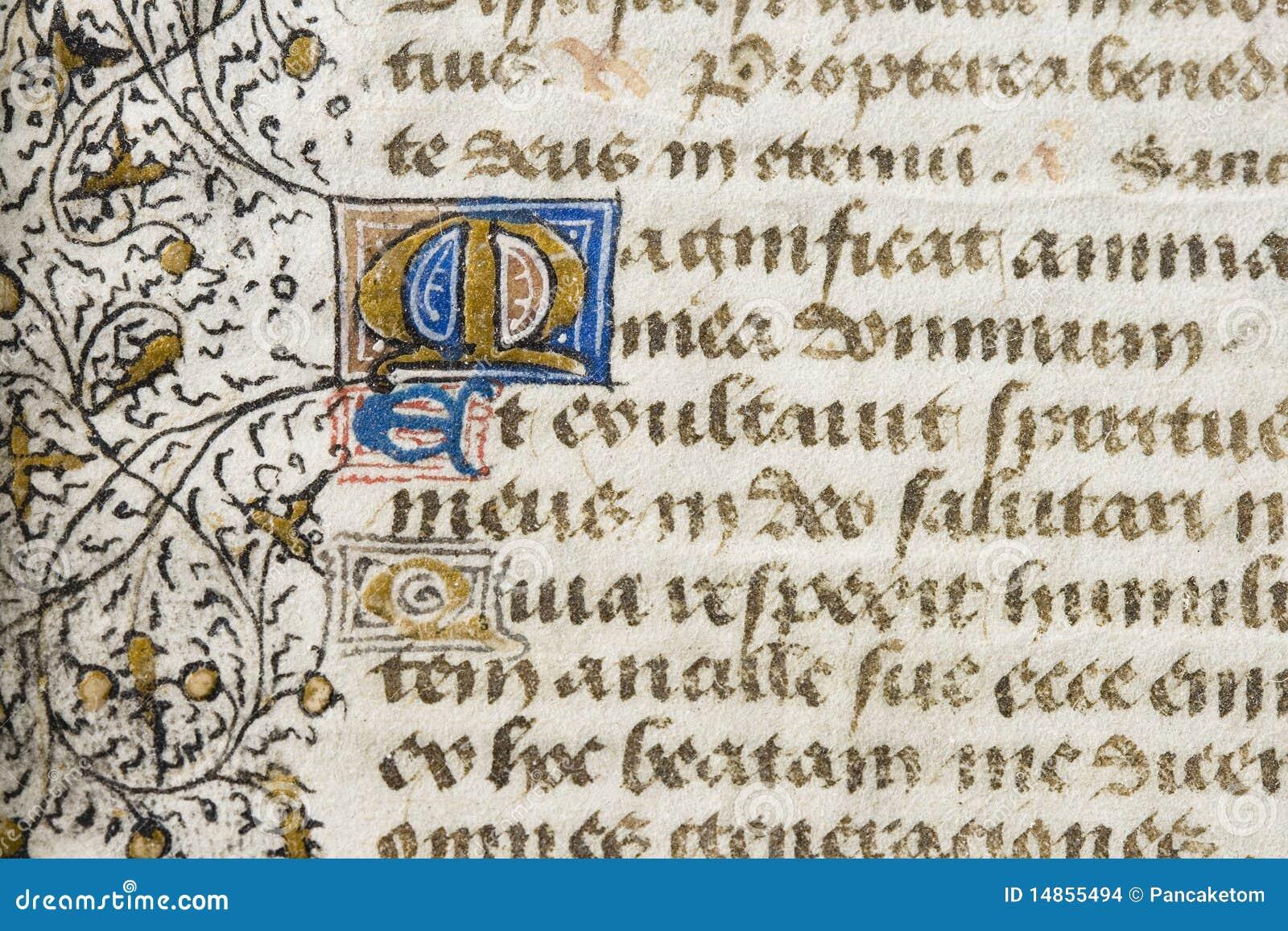 Illuminated manuscript detail