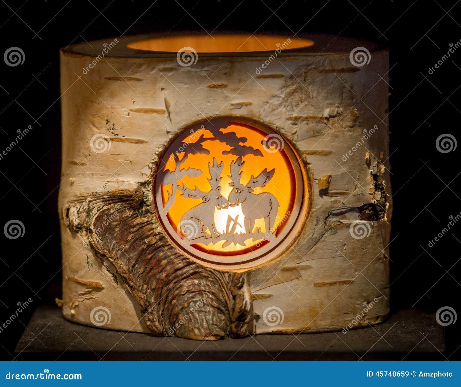 Illuminated Moose Stump Stock Photo Image 45740659