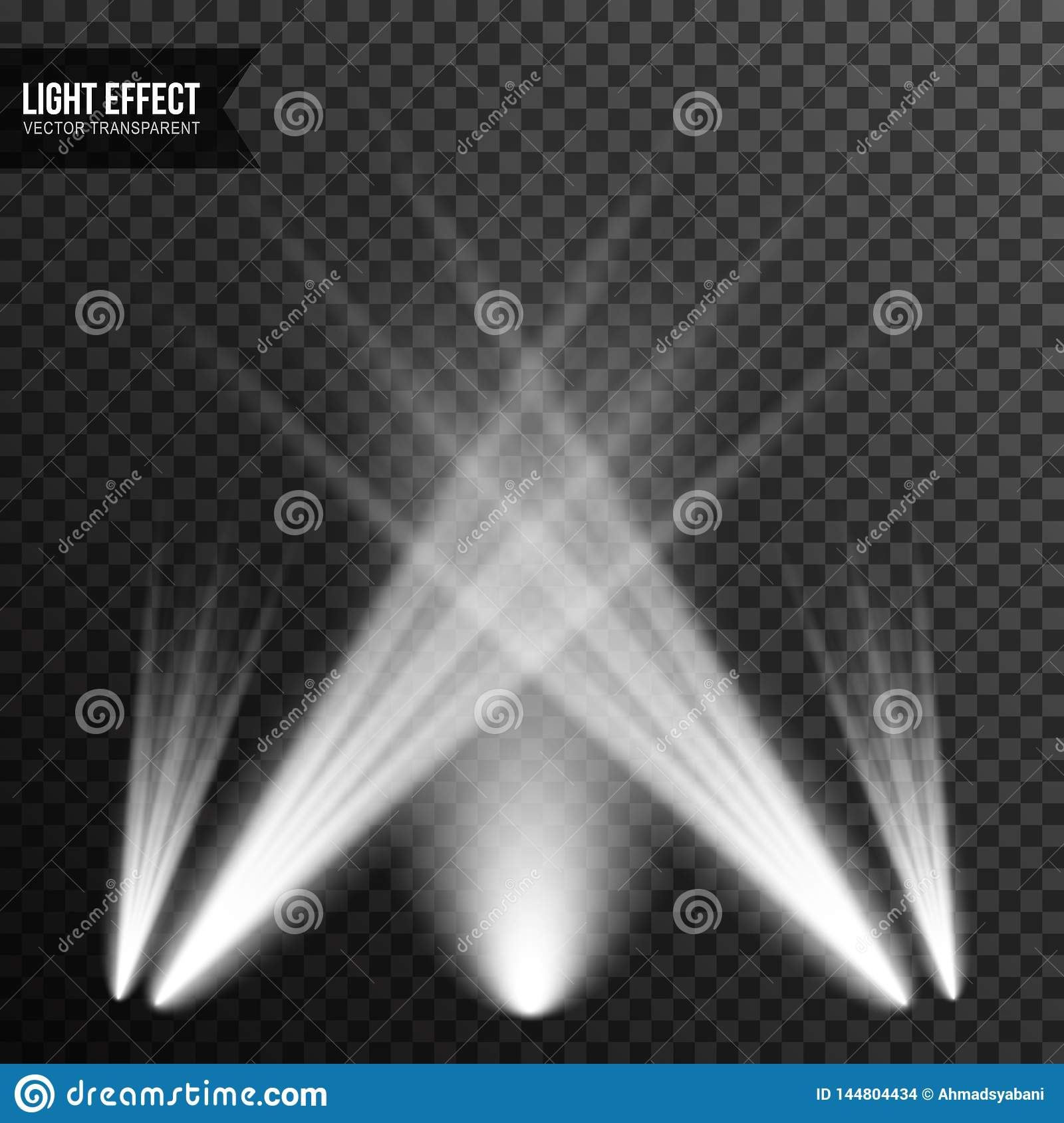 Spotlight illumination, bright light, stage, podium vector transparent