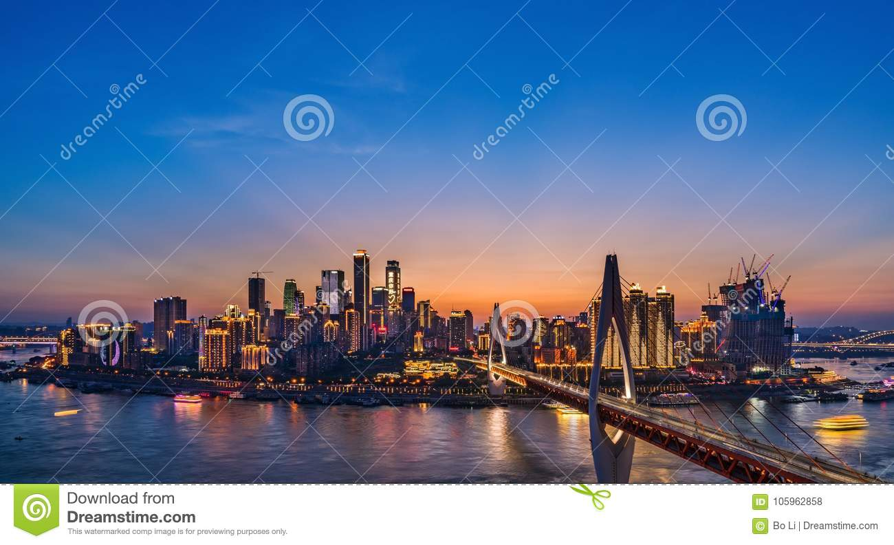 Chongqing Night Skyline