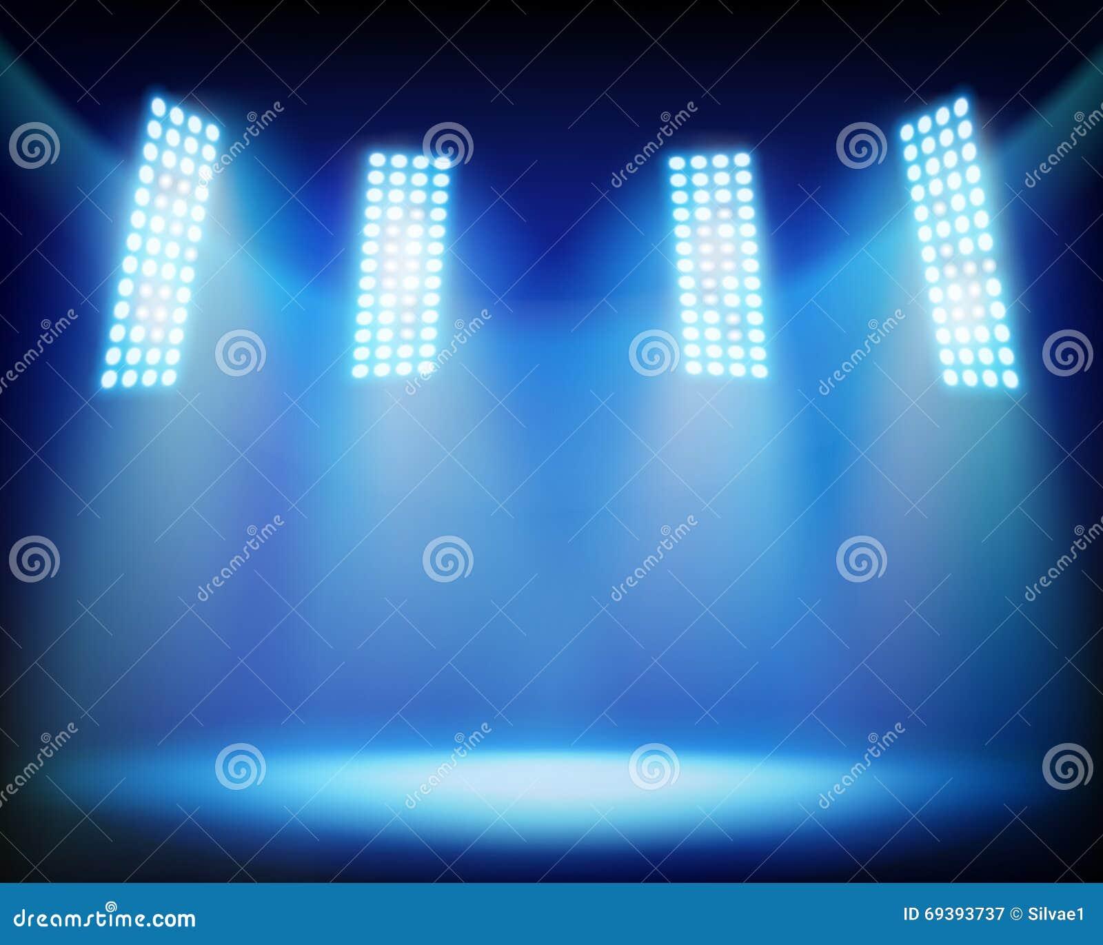 illuminated stadium  vector illustration  cartoon vector
