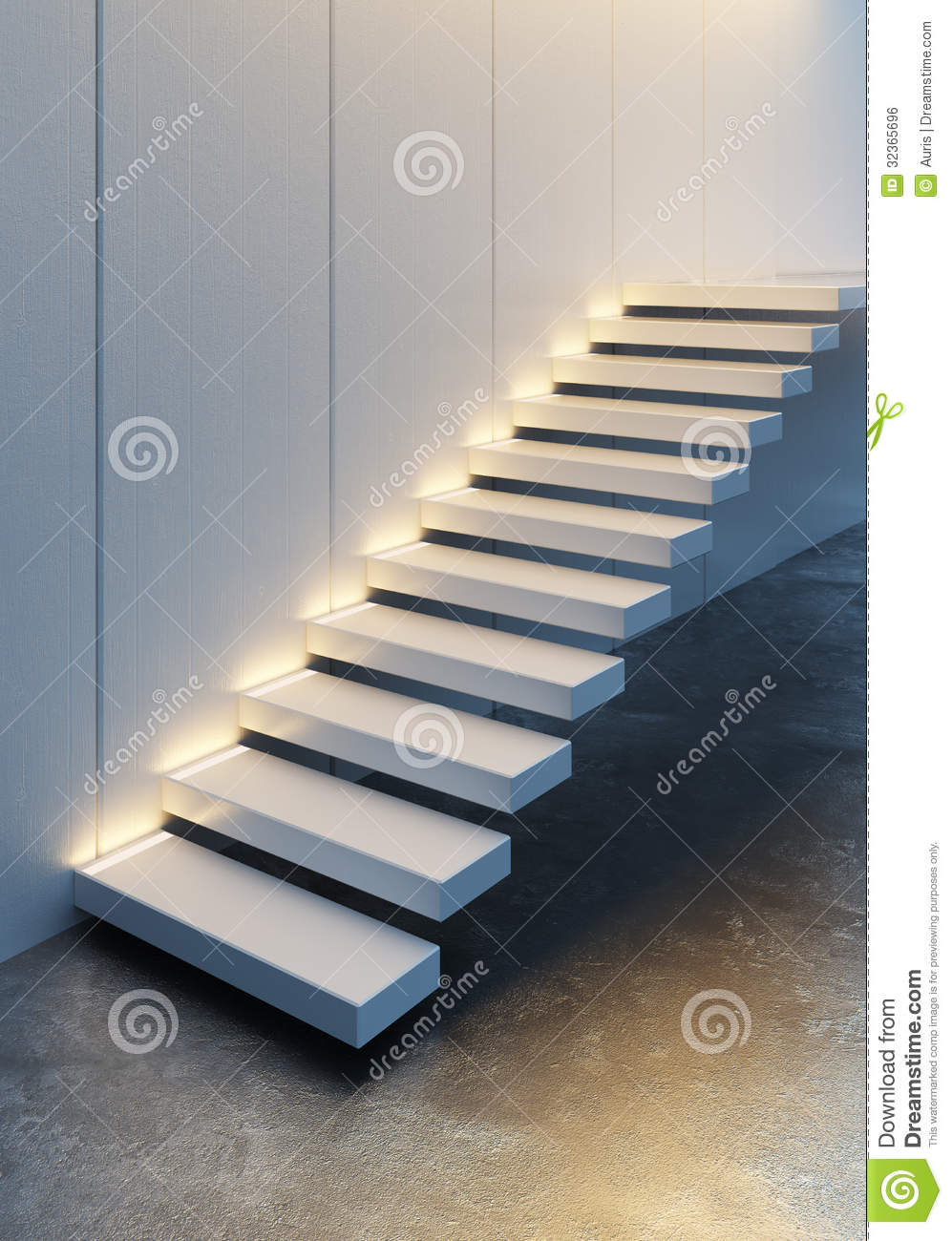 Lighting Basement Washroom Stairs: Illuminated Stairs Stock Illustration. Image Of Stairway